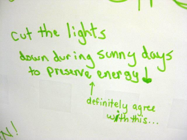lights down for green warehousing