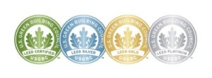 The four levels of LEED certification