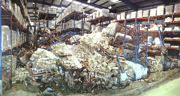 Collapsed Pallet Rack