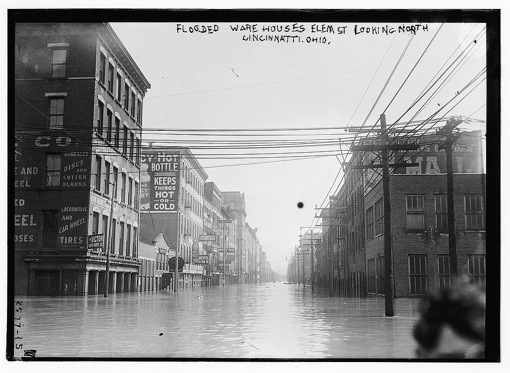 Flooded Warehouses in Cincinnati